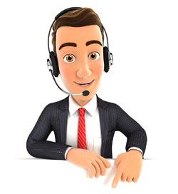 Cartoon customer service man