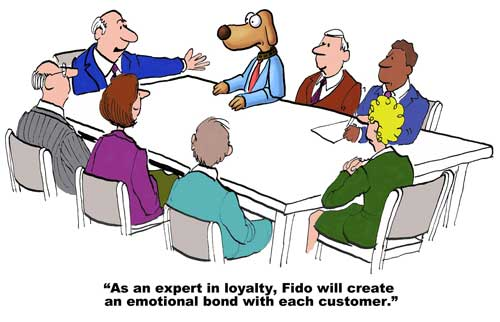 Customer loyalty cartoon