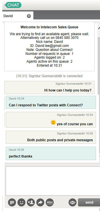 Web chat conversation