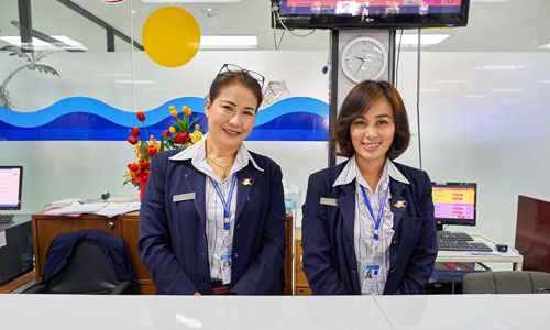 Airline customer service assistants