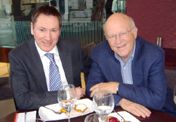 Ian Miller, CSM Editor meets Dr.Ken Blanchard, best-selling author and business guru