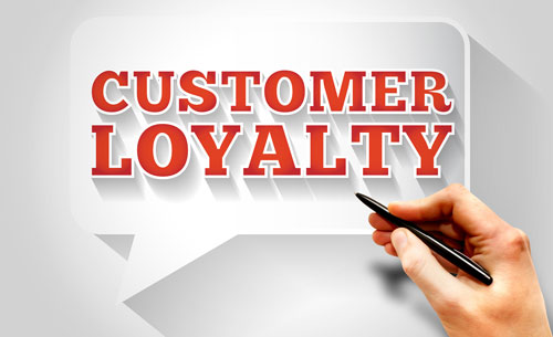 Customer loyalty sign