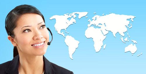 Overseas call center world map
