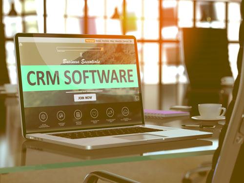 CRM on laptop