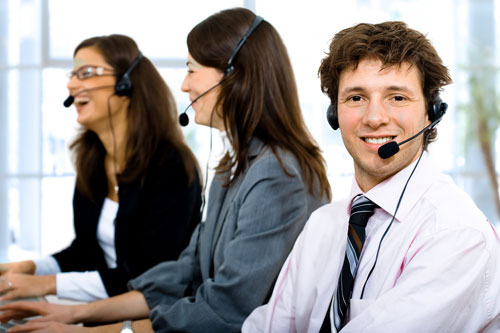 Customer Service Agents on  a call