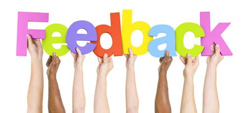 Customer feedback sign
