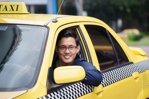 Happy Taxi Driver