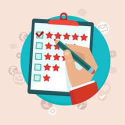 Customer service stars
