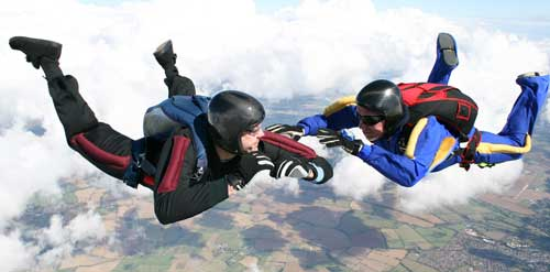 Skydiving risk takers