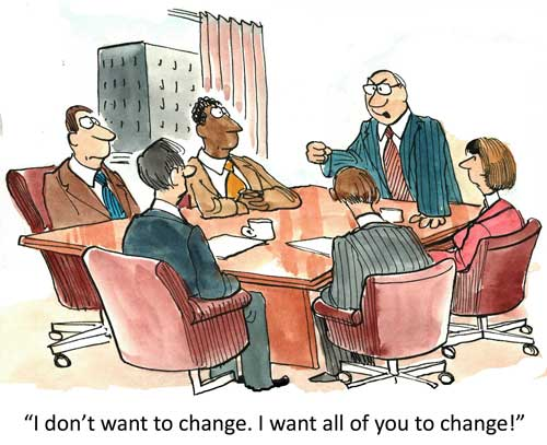 Change leadership cartoon