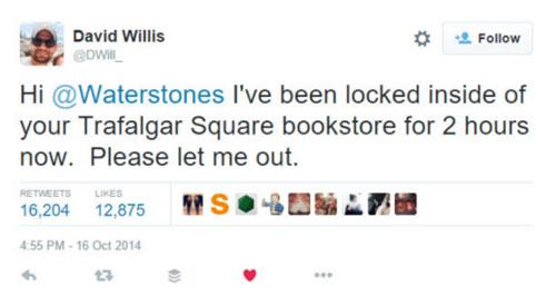 Waterstones tweet