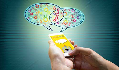 Chatbots in use on a mobile phone