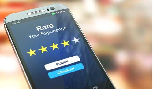 Customer satisfaction level on mobile