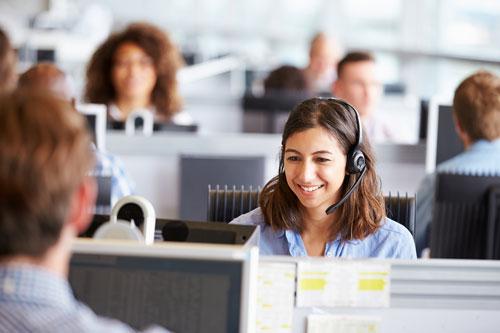 Customer Service Rep providing personal service