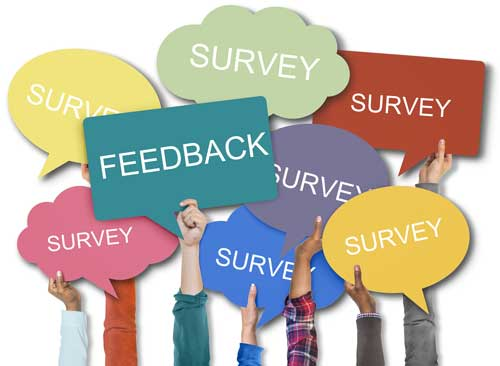 Customer feedback surveys banners