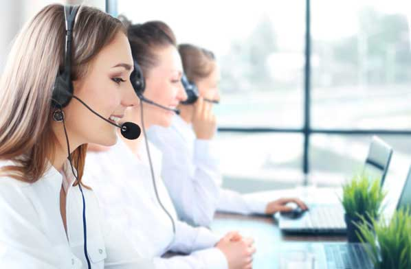 Customers calling contact centre