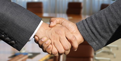 Men shaking hands