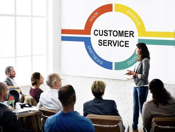 Customer service training session
