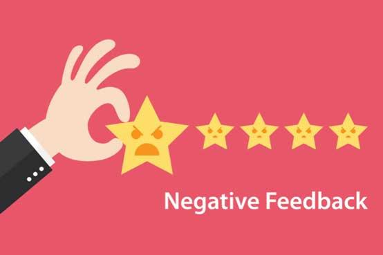 Dealing with poor customer feedback