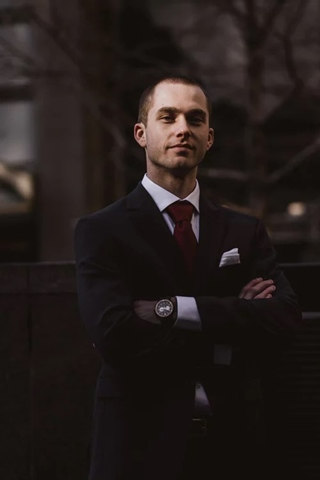 Manager in business suit