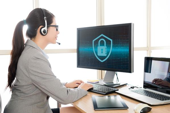 Agent using secure call center