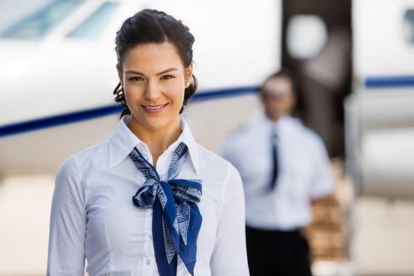 Private jet service crew