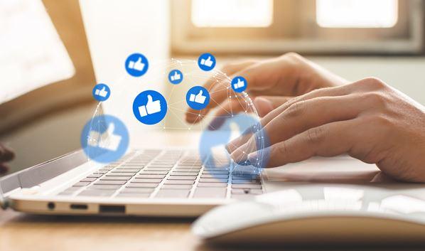 Customer using social media