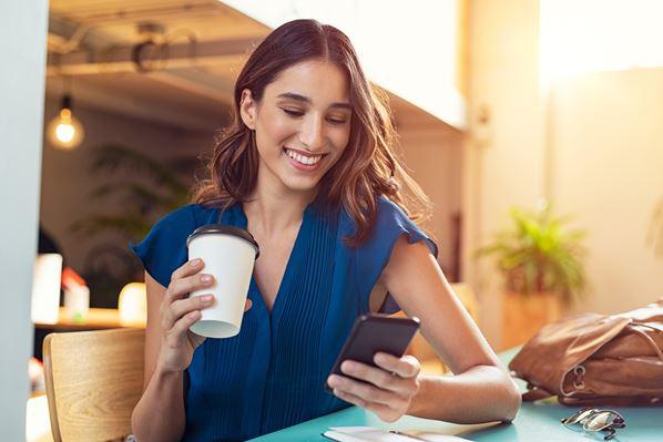 Women doing online shopping on phone