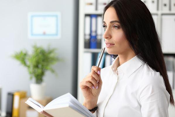 Businesswomen thinking