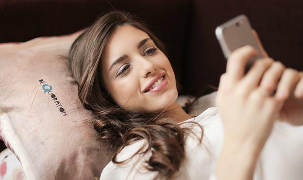 Women using social media