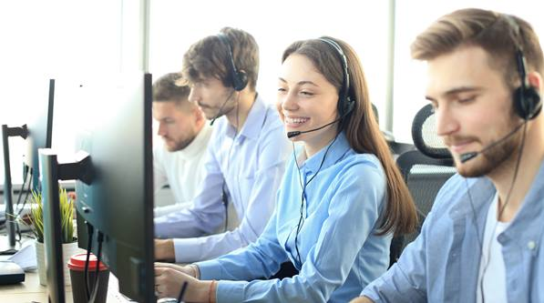 Call Center Agents using voice biometrics