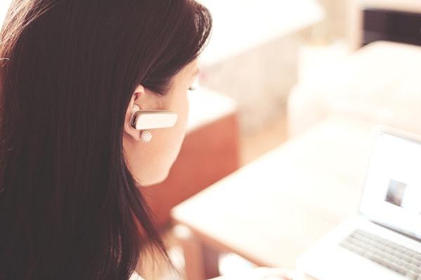 Call Center Operator talking to customer