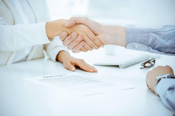 Client signing insurance contract
