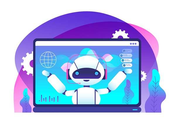 Chatbot on computer