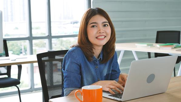Customers enjoying the internet