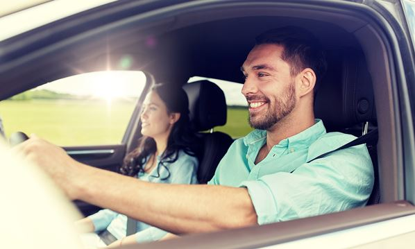Driver and passenger in USA