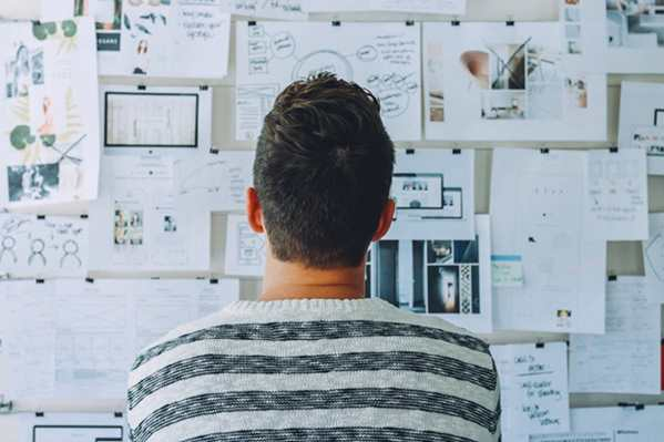 Man planning strategy
