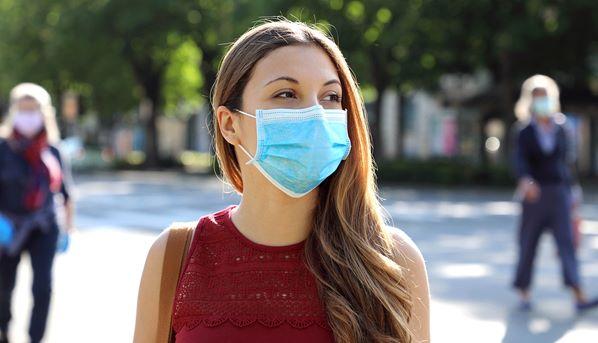 Customer wearing mask