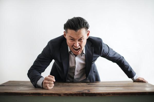 Angry customer shouting
