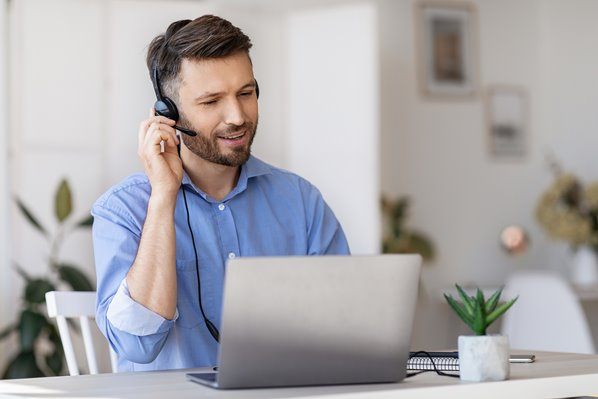 Customer Care Agent working at home