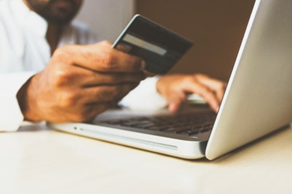 Online shopping with a credit card