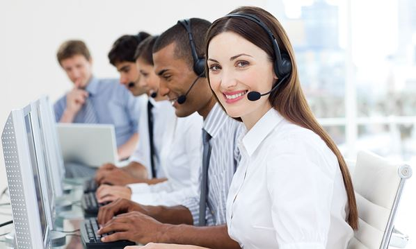 Outsourced call center team