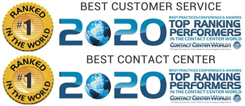 VeriCall - Best in World awards from Contact Centre World