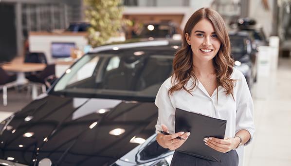 Car showroom sales person