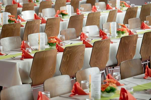 Function room with chairs