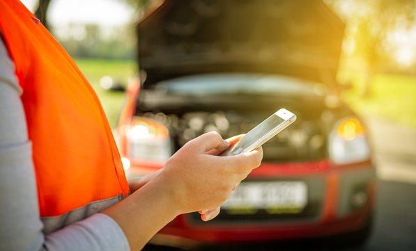 Customer calling for roadside assistance