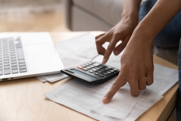 Payroll manager paying salary
