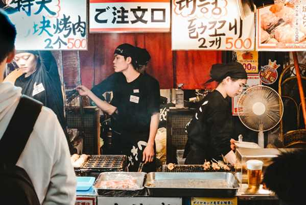 Japanese customer service in Osaka