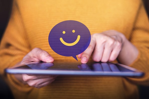 Customer feedback simile on tablet