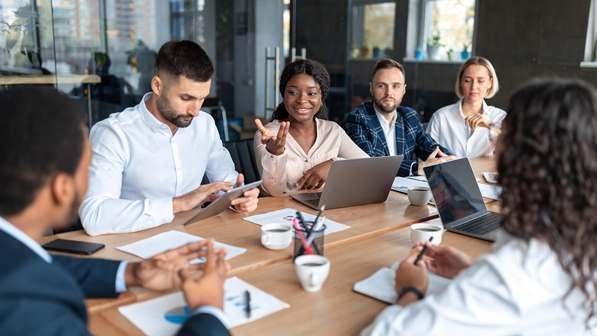 Customer service meeting